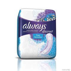 discreet moderate absorbency regular length incontinence pads target