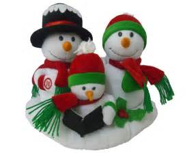 singing snowman snowmen family animated plush christmas musical toy jingle bell ebay