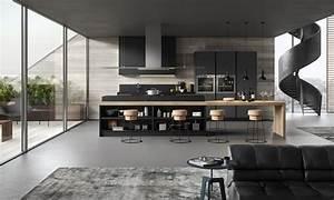 Idee deco cuisine blanc et rouge anthracite bois et blanc for Idee deco cuisine avec cuisine blanc et gris anthracite