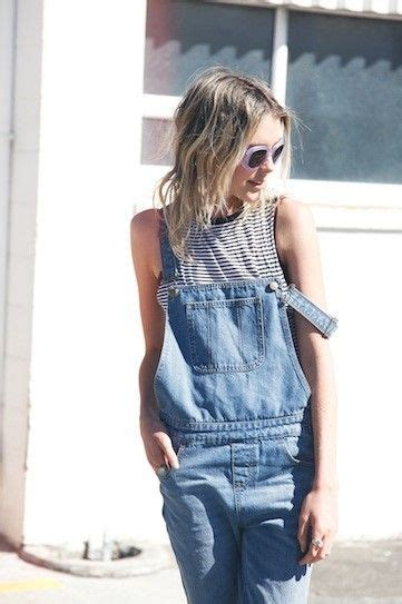 denim overalls sunglasses grey shirt streetstyle summer