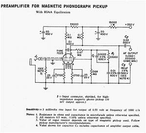 Rca Phonograph Preamplifier For A Magnetic Pickup Using