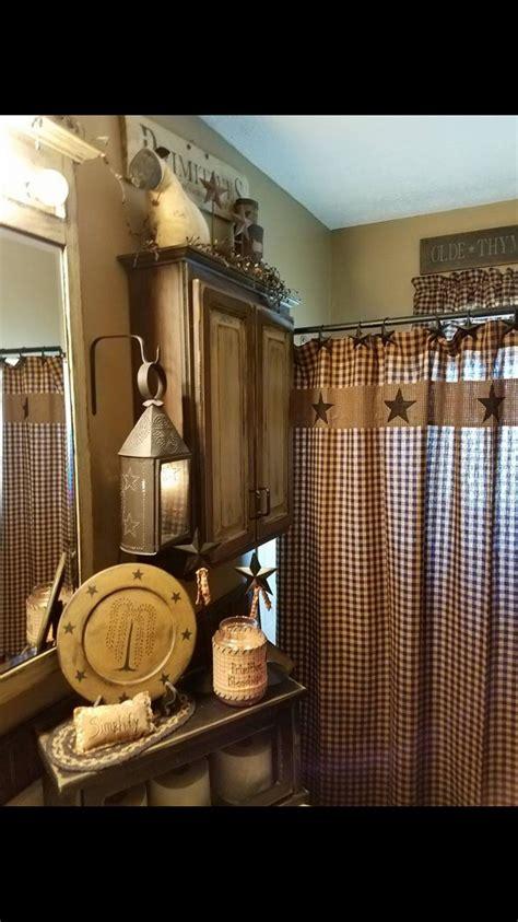bathroom shower curtains home decor   love primitive bathroom decor primitive country