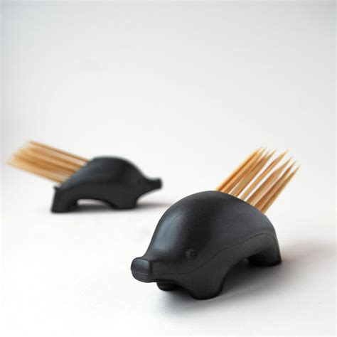 pickurpine porcupine toothpick holder  green head