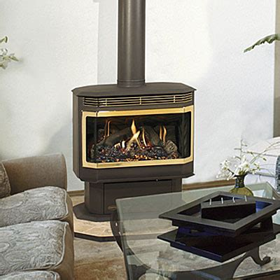 gas stoves fireplace stone patio
