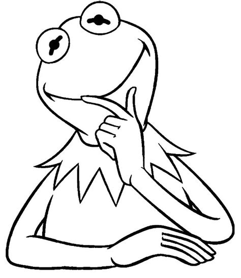 kermit  frog   muppets show coloring pages