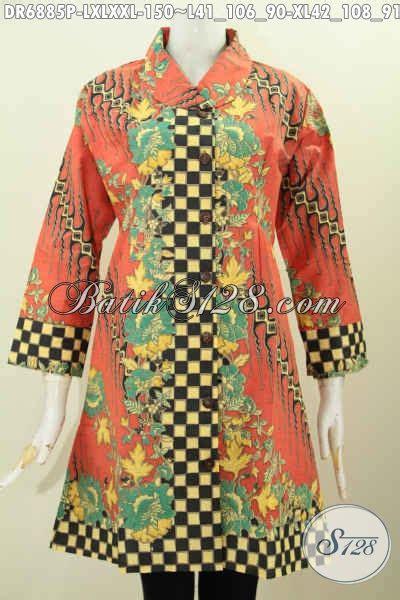 contoh baju batik wanita modern  dress batik halus