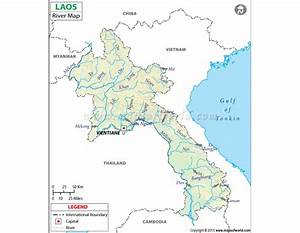 Buy Laos River Map