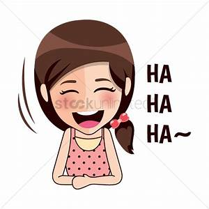 Cartoon girl laughing Vector Image - 1957234   StockUnlimited