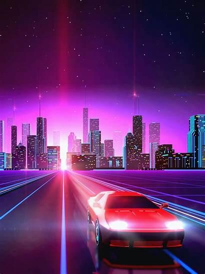 Vaporwave Drive Wallpapers Neon Backgrounds Kolpaper Ipad