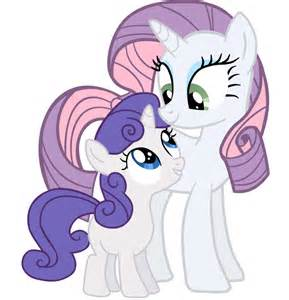 MLP Rarity and Sweetie Belle