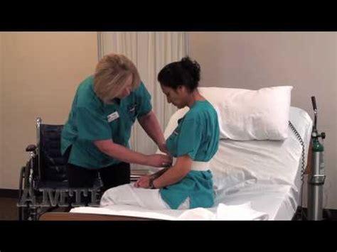 cna skill ambulate  gait belt youtube