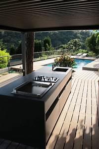 Cuisine D Ete : cuisine d 39 t et deck piscine r alisation inside cr ation ~ Melissatoandfro.com Idées de Décoration