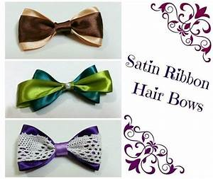 DIY Hair Bows (2 Ribbons) · How To Make A Ribbon Hair Bow