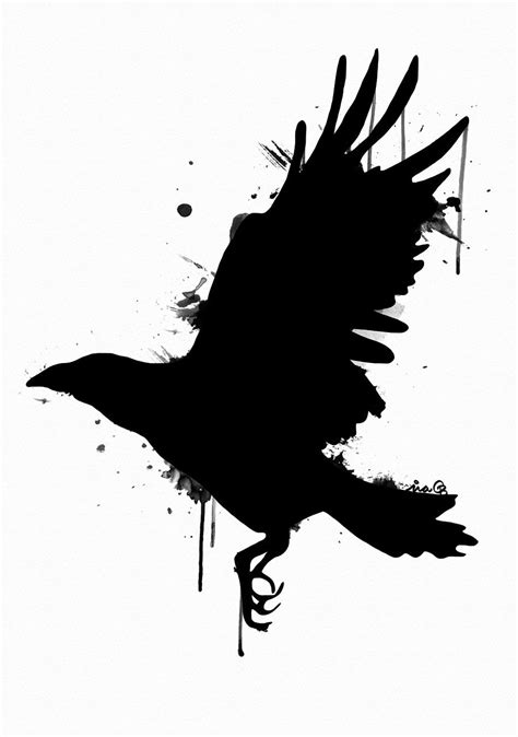 Crow. Water color. By me, Ina Björkstedt. | Raven tattoo
