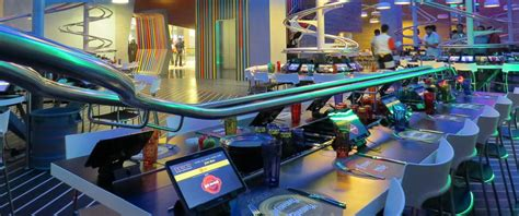 roller cuisine see food on a roll at roller coaster themed restaurant