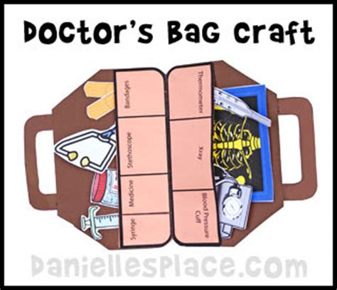 dentists and doctors theme weekly home preschool 128   doctor bag craft inside pic