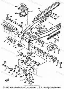 Yamaha Motorcycle 1985 Oem Parts Diagram For Swing Arm