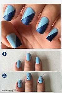Blue nails art, Nyc nail polish and Blue nails on Pinterest