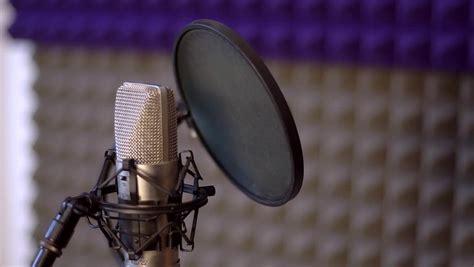 Studio Recording, Professional Microphone In The Recording