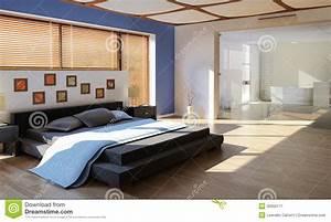 chambre a coucher de luxe moderne avec la salle de bains With salle de bain dans chambre a coucher