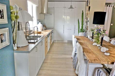 cuisine et blanc déco cuisine blanc et bois