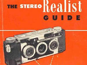 Stereo Realist Guide Instruction Manual  User Manual  Pdf