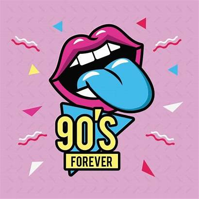 90s Vector Forever 90 Graphic Vectors Tongue