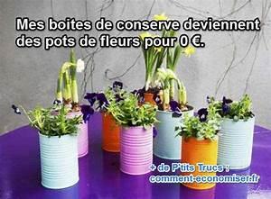 Creation Avec Des Pots De Fleurs : mes boites de conserve deviennent des pots de fleurs pour 0 ~ Melissatoandfro.com Idées de Décoration