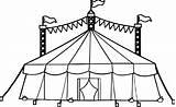 Tent Circus Coloring Drawing Camping Printable Amusement Drawings Cartoon Getdrawings Neo sketch template