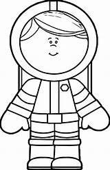 Astronaut Coloring Cute Pages Printable sketch template