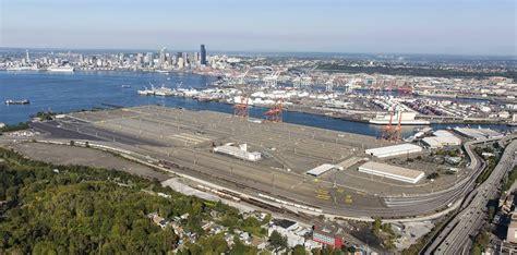 seattles terminal  closer   big ship
