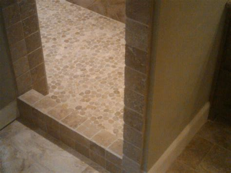 pebble tile for shower floor any install recommendations