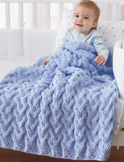 nursery for boy bernat baby blanket bulky yarn crochet patterns my