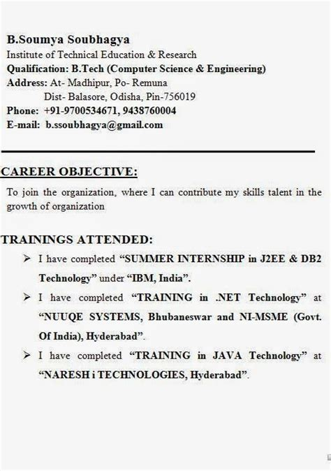 Correct Format Of Resume by A Cv Layout Sle Template Exle Ofexcellent Curriculum