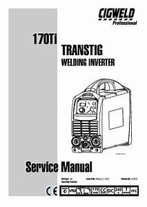 Cigweld 170ti Transtig Welding Inverter Service Manual