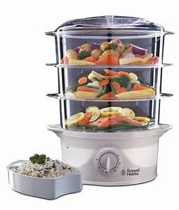 3 Tier Food Steamer 21140   Russell Hobbs UK