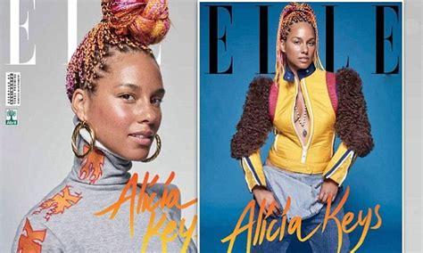 alicia keys shows  multi colored braids  elle brazil