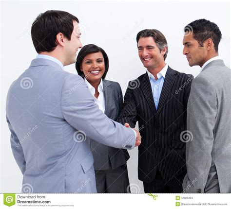 business people greeting   stock images image