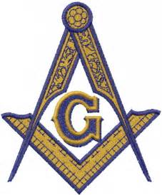 Masonic Square and Compass Embroidery Design