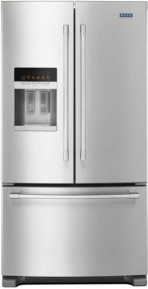 maytag  cu ft fingerprint resistant stainless steel french door refrigerator mfifez