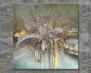 Bilder Abstrakt Modern : nettis art acrylbild gro format quadratisch gold braun wei abstrakt modern abstract painting ~ Sanjose-hotels-ca.com Haus und Dekorationen
