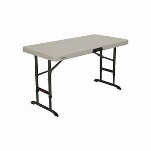Table 4 Personnes : table pliante rectangulaire ajustable beige 122cm 4 ~ Melissatoandfro.com Idées de Décoration
