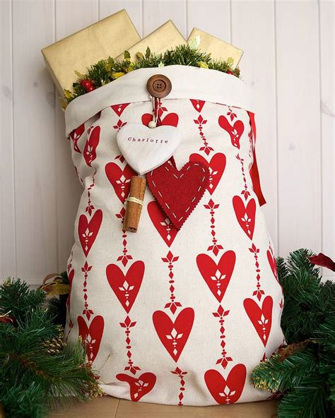 personalised love christmas santa sack by santa sacks