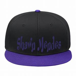 ... BLACK Embroidered Snapback Hat – Hatsline · SHAWN MENDES - Snap Back  Flat Bill Hat - 125-1038 - 125 . c5f652ba80ad