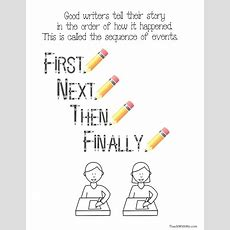 Freebie Sequence Of Events Anchor Chart  Speechlanguage Pinterest