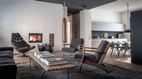 interior design berlin nomads sober and apartment interior design wearing charcoal and wood in berlin