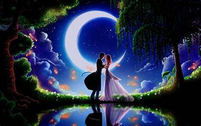 Anime Romantic Wallpapers Romance Desktop Kiss Night