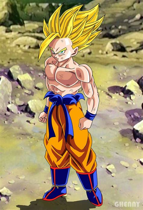 Dragon Ball Z Commission Gohan Super Saiyan 2 by ghenny
