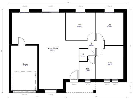 plan maison 3 chambre plain pied plan de maison 100m2 3 chambres plan de maison 100m2 2