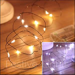 20 led black wire indoor battery operated micro fairy string lights by festive lights battery